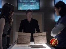 Barry Allen, The Flash, with Caitlin and Cisco