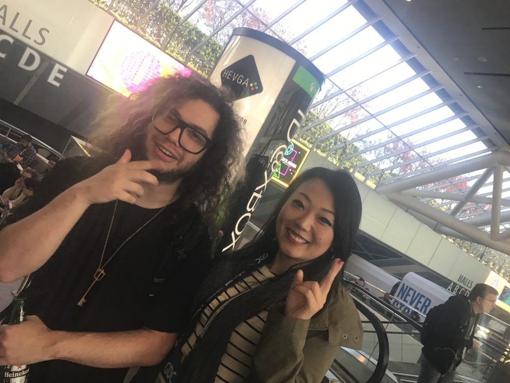 Grimecraft and Kat at Game Developers Conference 2017.