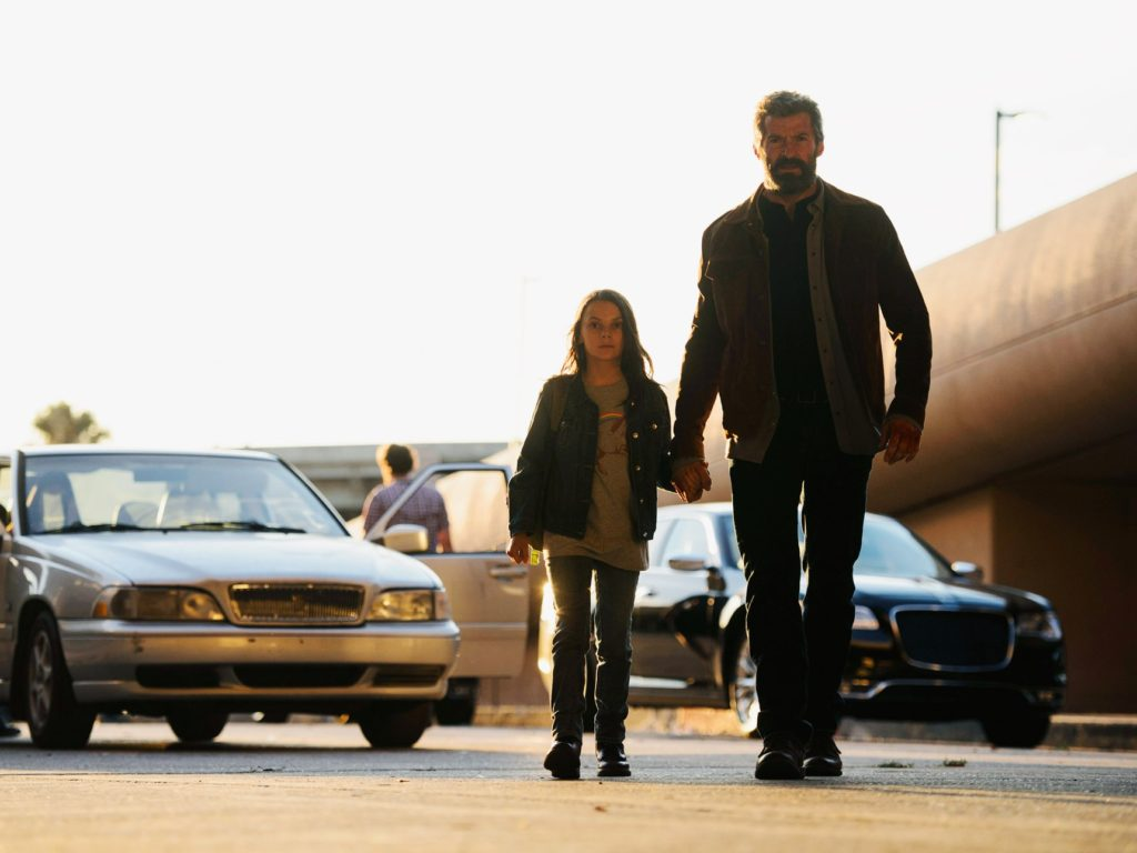 Dafne Keen and Hugh Jackman as Laura and Wolverine in 'Logan.' Courtesy of BEN ROTHSTEIN/20TH CENTURY FOX.