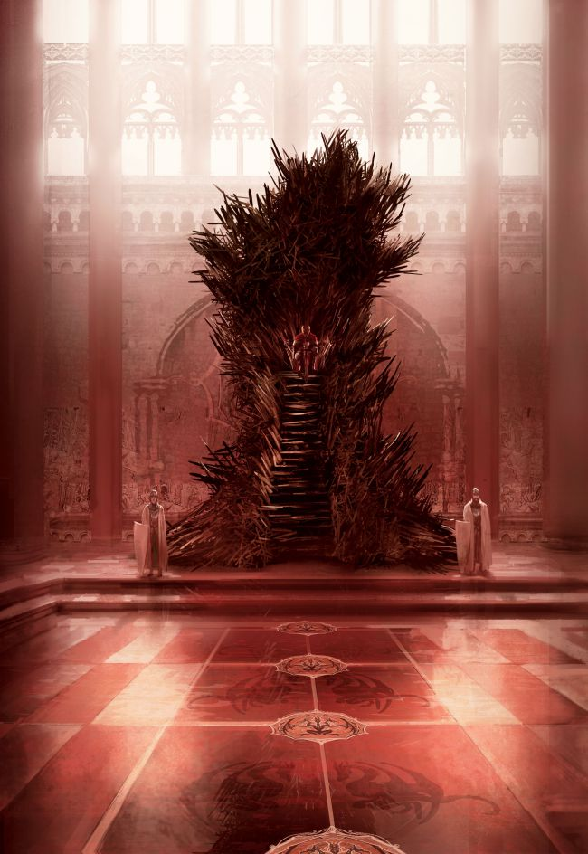 The most accurate version of the Iron Throne, according to Martin. Illustration: Marc Simonetti.