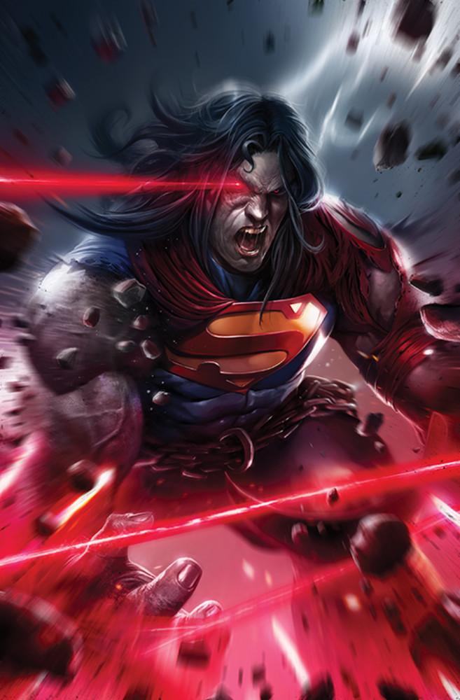 Superman Variant Cover, Dark Nights: Death Metal. Art by Francesco Mattina. Photo: DC Comics