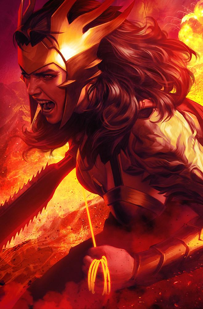 "Wonder Woman Variant Cover, DARK NIGHTS: DEATH METAL. Art by Stanley ""Artgerm"" Lau. Photo: DC Comics"
