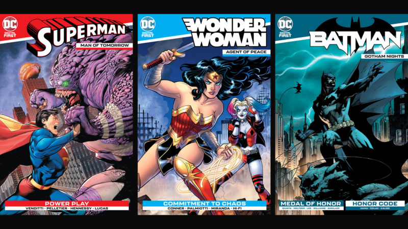Some of the premier covers of the revamped DC Digital First collection. Photo: DC Comics