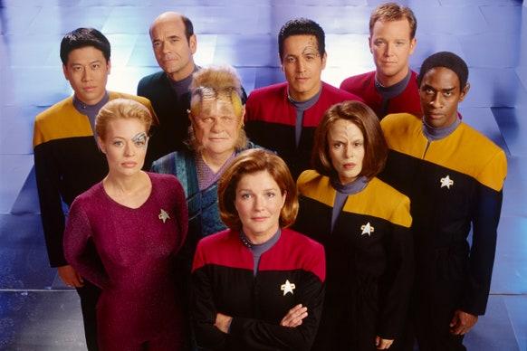 The cast of Star Trek: Voyager. Photo: CBS/Paramount