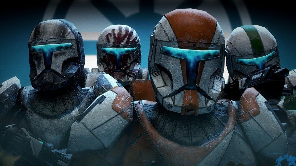 The Delta Squad in the video game, Star Wars: Republic Commando