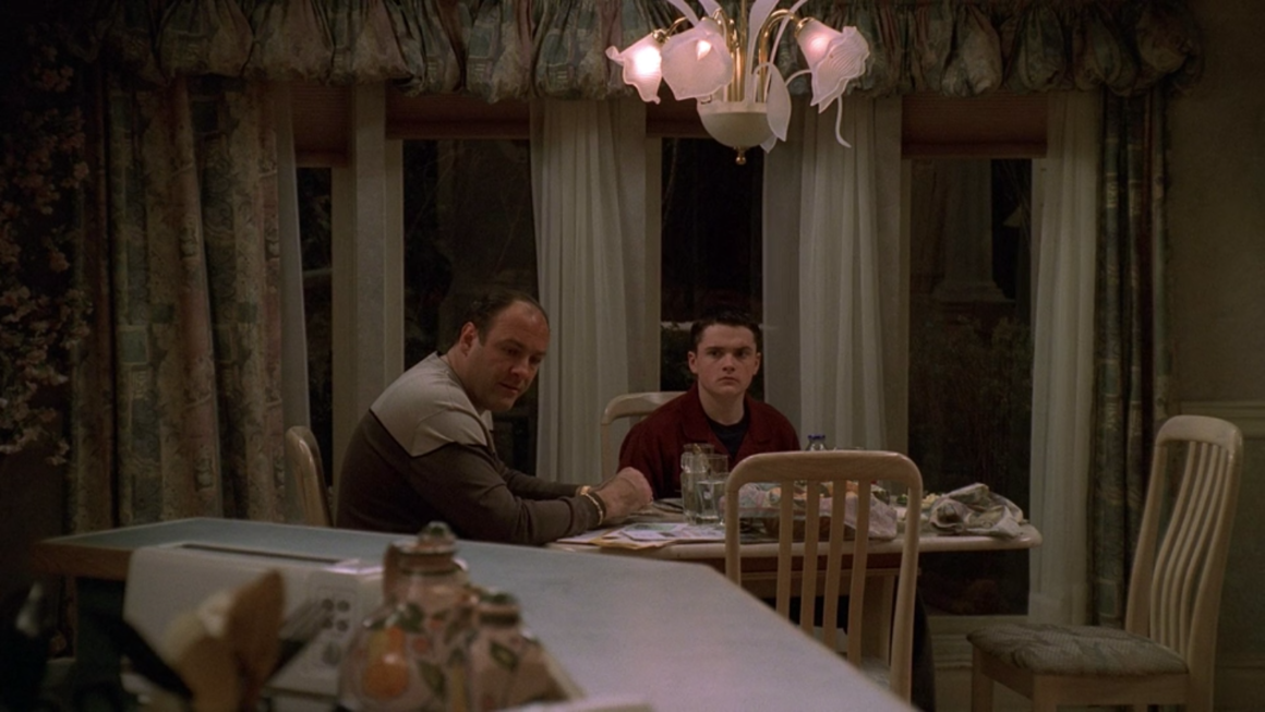 The Sopranos uses color in storytelling to do two key things: to independently establish the tone and mood of the scene(s) they are being used in and to signify that the tone and mood are becoming more negative as times goes on and these colors change.