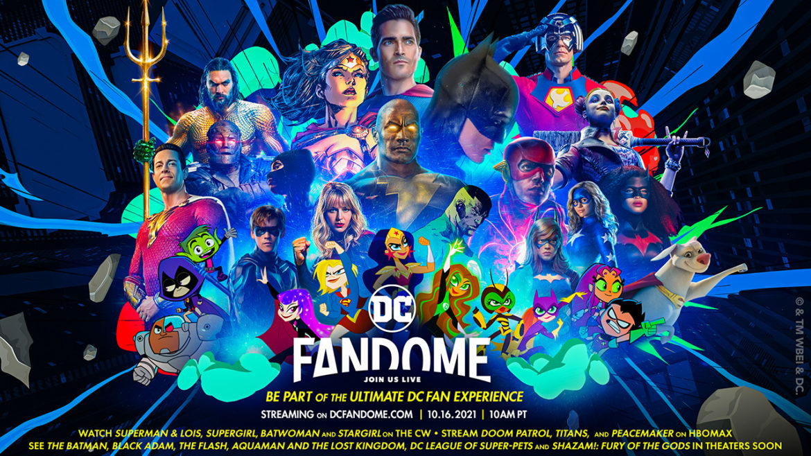 DC FanDome, a virtual and free event for fans, returns this year on Saturday, October 16 at 10 AM PDT.